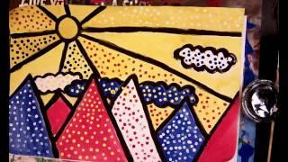 Roy Lichtenstein Landscape Drawing (1 of 2)