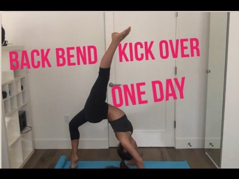 How to get a BACKBEND KICK-OVER in ONE DAY