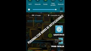 Como persolanizar la barra de notificaciones del movil con Xposed/GravityBox 2015