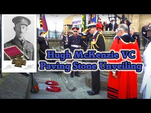 Lt Hugh McDonald McKenzie VC Paving Stone Cenetenary Commemoration Service