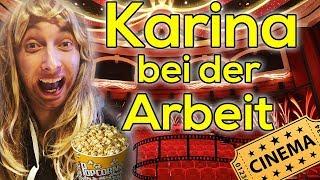 Karina bei der Arbeit - Kino