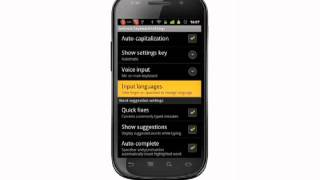 Changing the input language on your Android phone