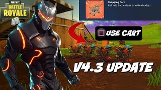 "FORTNITE NEW ""Shopping Cart"" + Refund Skins Update Gameplay + Countdown! (AMAZING FORTNITE PLAYER)"