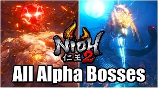 NIOH 2 Alpha Gameplay - All Bosses [PS4 PRO]