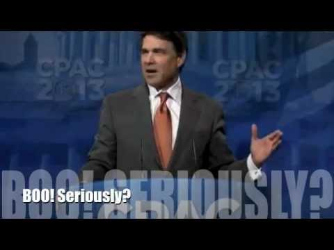 "Rick Perry CPAC 2013 Speech: ""Growing Hispanic Demographic"" Gets the Boos (EXCERPT)"