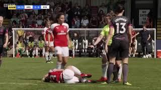 Beth Mead gets tackled, Danielle Van de Donk shoves referee.