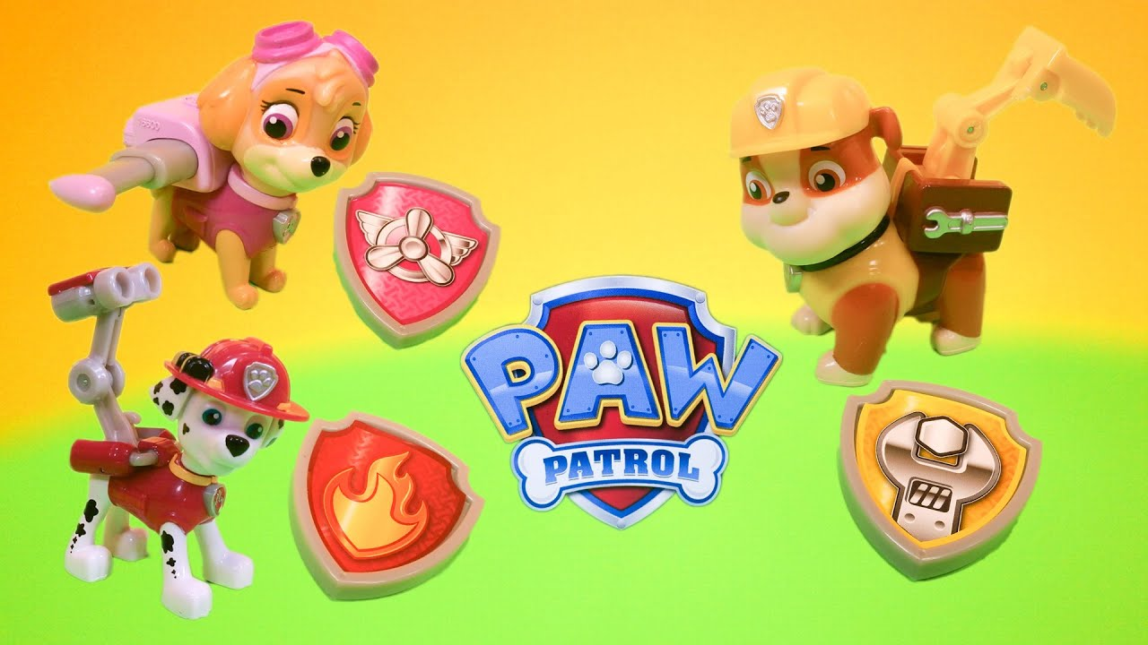 Unboxing Paw Patrol Skye Marshall And Rubble Pup Packs Toys