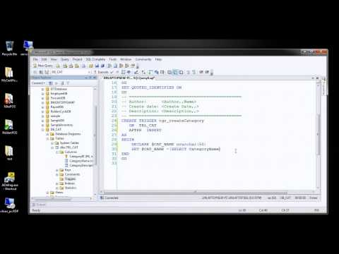 How to create TRIGGERS SQLSERVER