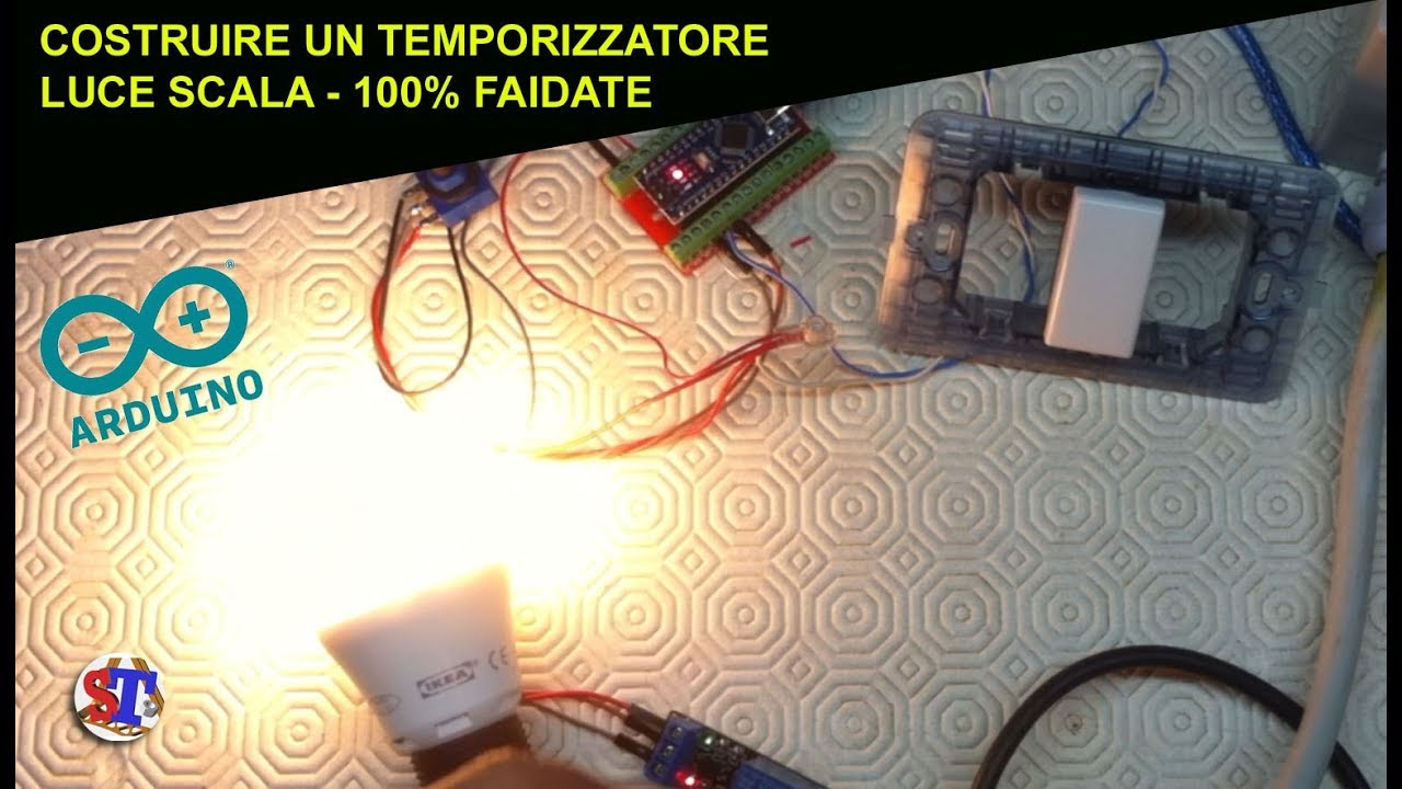 Timer Luci Scale Prezzo.Come Costruire Un Timer Luce Scale Con Arduino 100 Faidate Youtube