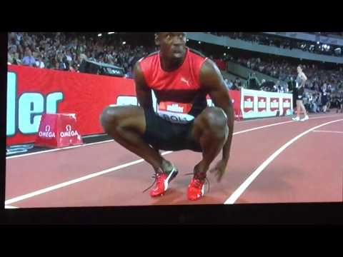 Usain Bolt win gold at Olympic stadium in UK 2016