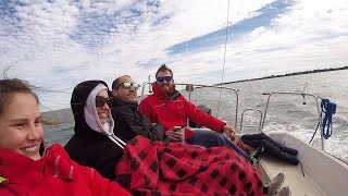18. Cold Front Sailing, Fishing, and Sleeping on a Small Sailboat