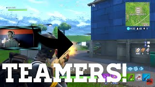 I FOUND TEAMERS IN SOLOS   Fortnite Battle Royale Solo Win