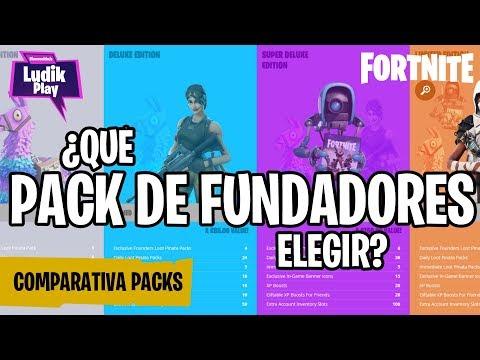 COMPARATIVA PACKS DE FUNDADOR:  SUPERLUJO, LIMITADO, DEFINITIVO | FORTNITE SALVAR EL MUNDO | GUÍA