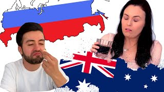 Australians Try Russian Food