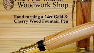 #1 Making a Cherry Wood Fountain Pen
