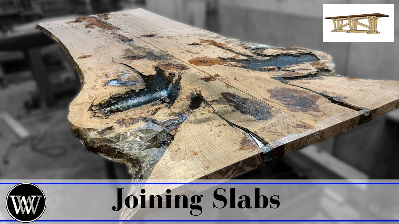How To Joint Large Slabs Live Edge Dining Room Table