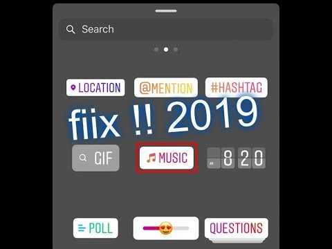 "how to use music on instagram story ""fix the probleme "" 2019!"