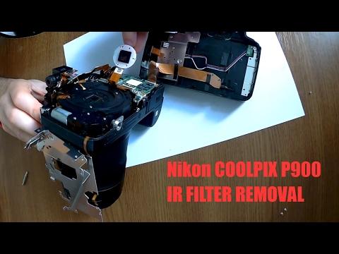 Nikon Coolpix P900 full spectrum / infrared camera modification tutorial