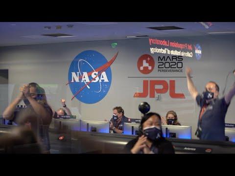 NASA's Perseverance Rover Lands Successfully on Mars (Highlight Reel)