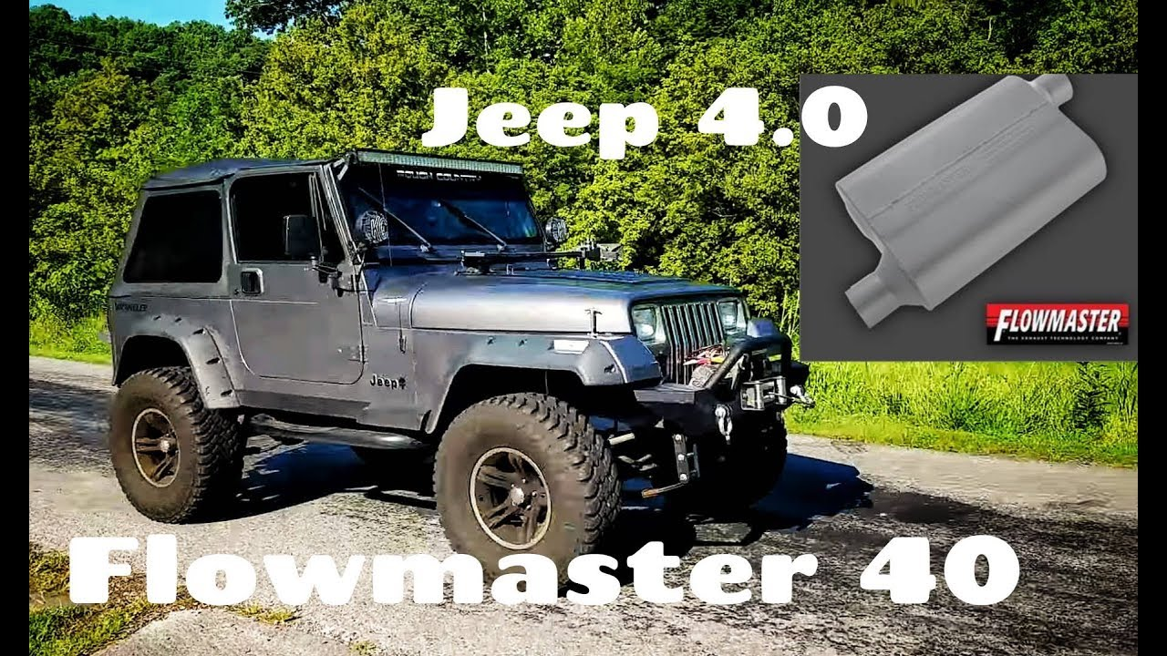 1993 jeep wrangler yj 4 0 flowmaster 40 series exhaust youtube. Black Bedroom Furniture Sets. Home Design Ideas
