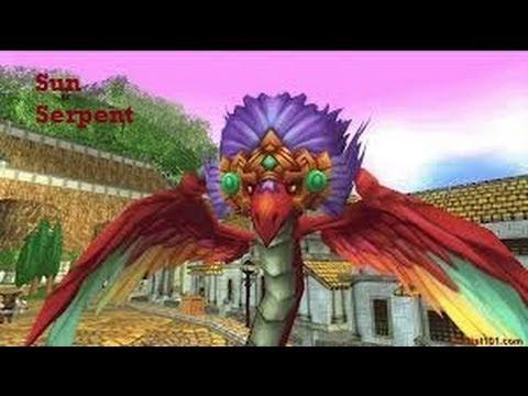 Wizard101 lvl 88 Fire Spell - Sun Serpent