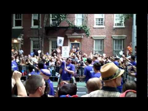 6 26 11 NYC Pride; Harvey Milk High School