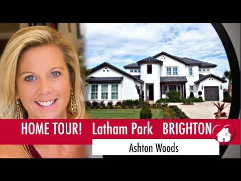 New Homes Winter Garden Florida Brighton Model By Ashton Woods At Latham  Park Waterfront Home!