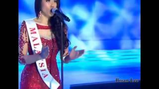 Miss Malaysia World 2014, Dewi Liana Seriestha being crowned as Miss World Talent