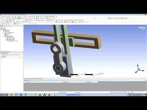 WEBINAR 3: ANSYS Workbench Transient Structural FEA of a crank and slider mechanism