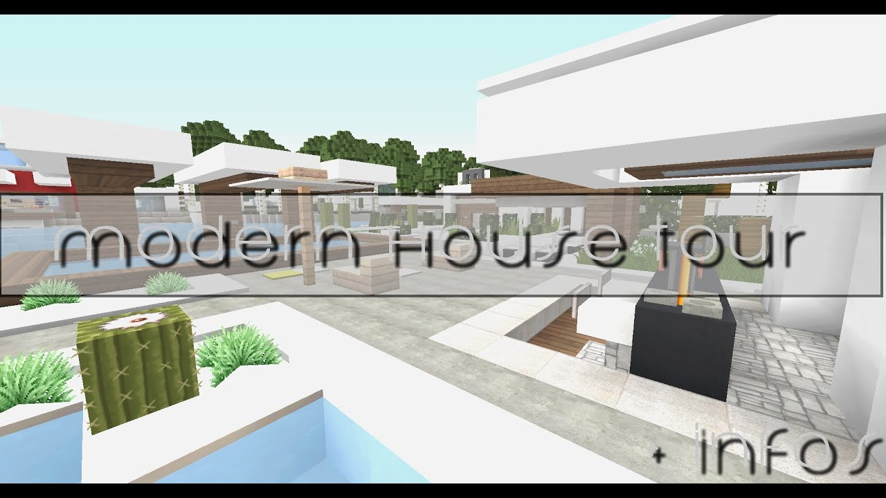 Fabuleux Minecraft - Maison Moderne : Visite + Download - YouTube BZ07