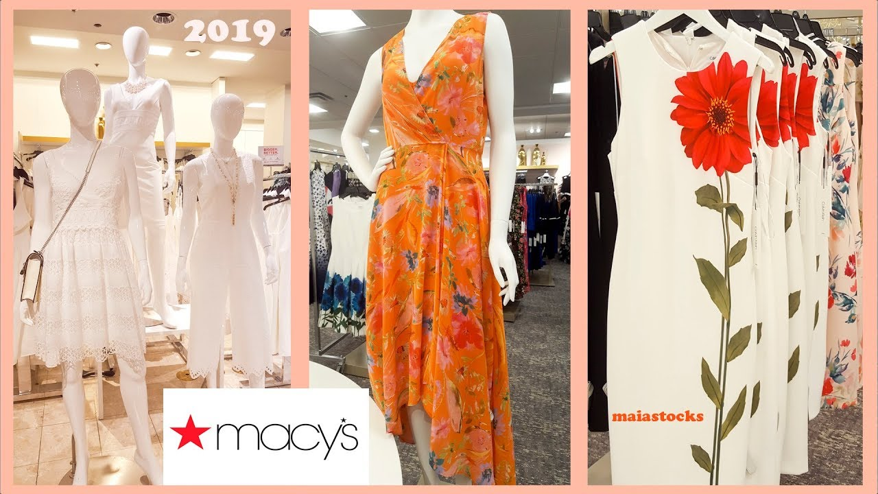#MACYS DRESSES for Spring Summer 2019 I Shop with Me - YouTube