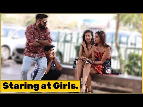 2 Guys Staring at Girls Prank   The HunGama Films thumbnail