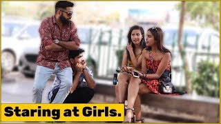 2 Guys Staring at Girls Prank | The HunGama Films