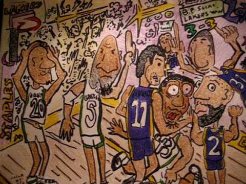 LAKERS VS CELTICS CARTOON (THE STAPLES STOMP)