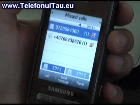 Samsung D980 Dual Sim Mod de functionare Apel in asteptare Test How To