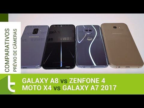 Galaxy A8 vs Zenfone 4, Moto X4 e Galaxy A7 2017 | Comparativo prévio de câmeras TudoCelular