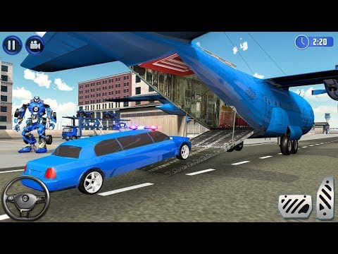 US Police limousine Car Quad Bike Transporter | Android Gameplay | Friction Games