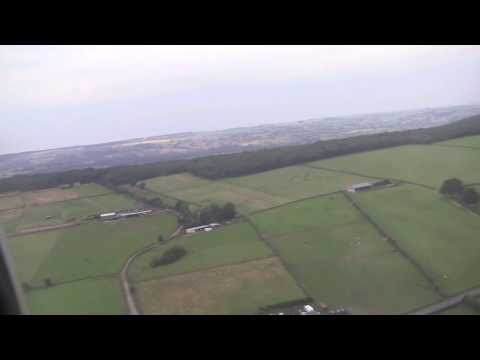 Aerial Views of West Yorkshire & Landing at Leeds Bradford Airport, Yorkshire, UK - August 2013