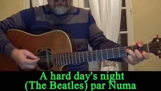 A hard day's night (The Beatles ) acoustic guitar cover