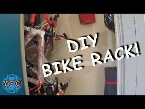 DIY Closet Bike Rack!