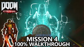 DOOM Eternal - Mission 4 - 100% Walkthrough - All Secrets, Collectibles, Upgrades & Challenges