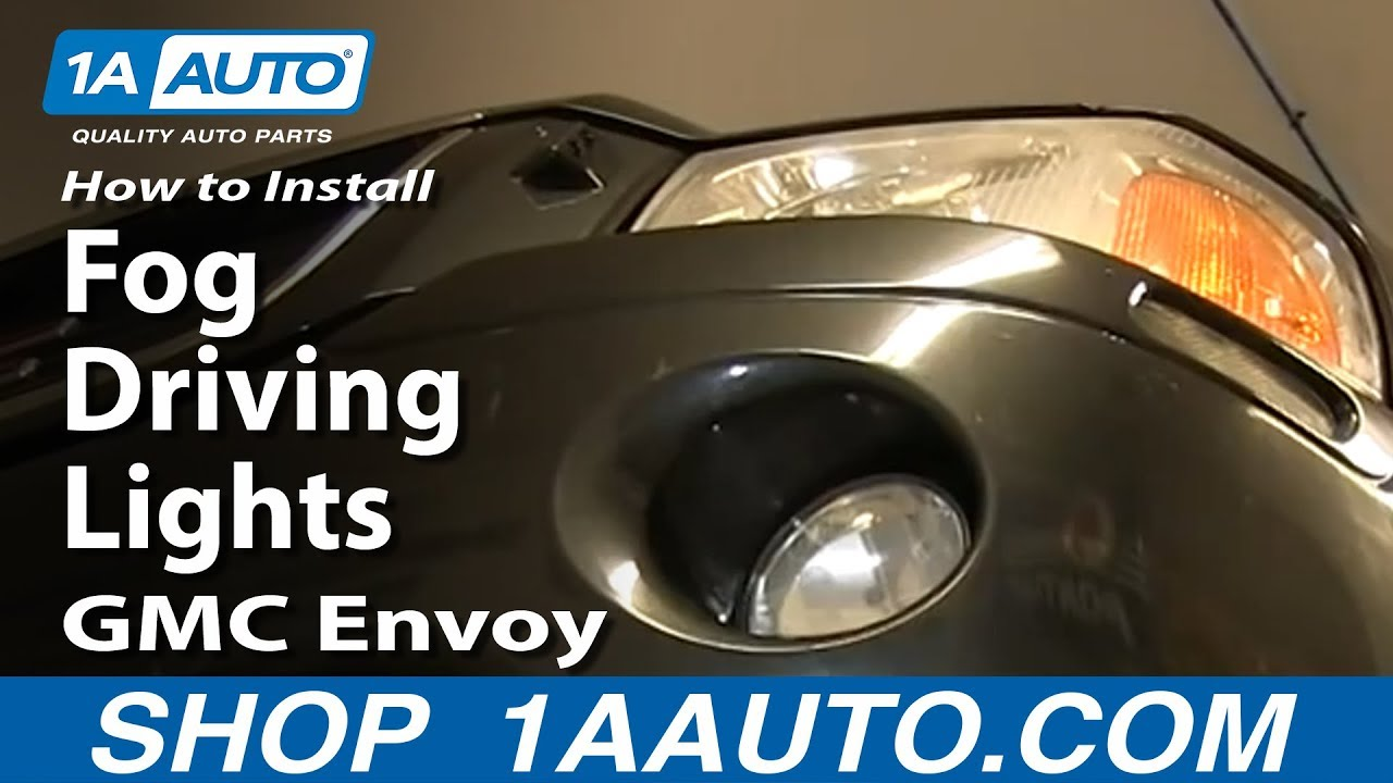 maxresdefault how to install replace fog driving lights 2002 09 gmc envoy, envoy