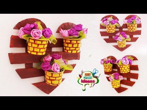 DIY - Heart Room Decor !! Heart Shaped Gift Ideas Making At Home    Handmade Craft   Diy Craft Ideas