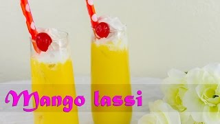 Mango Lassi - Mango Based Indian Beverage With Creamy Yogurt - Beverage Special By Crazy4veggie
