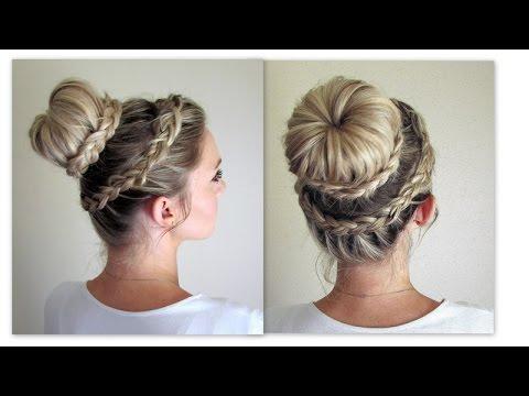 How To Lace Dutch Crown Braid Lace Dutch Braided Bun