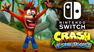 Crash Bandicoot N. Sane Trilogy Nintendo Switch Gameplay