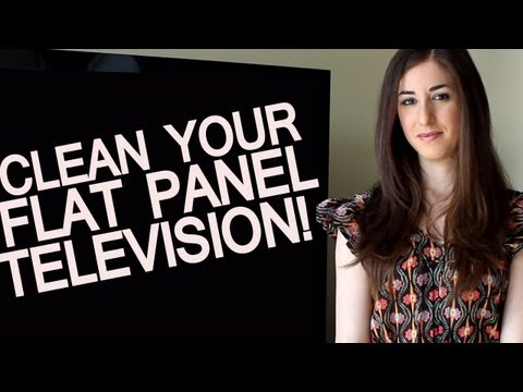 How to Clean a Flat Screen TV - LCD or Plasma (Easy Home Electronics Cleaning Ideas) Clean My Space