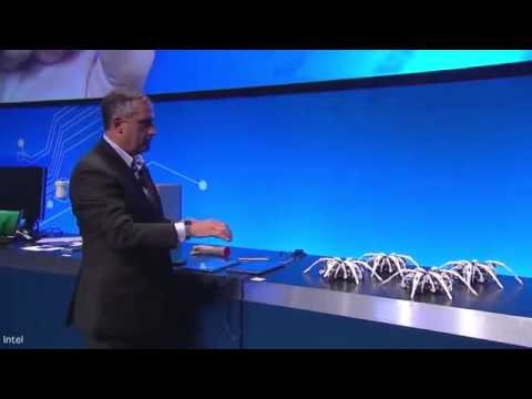 Intel revealed gesture controlled spider robot