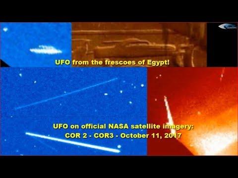 nouvel ordre mondial | UFOs on official NASA satellite imagery: COR 2 - COR 3 - October 11, 2017