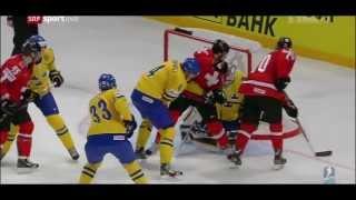 Final SWEDEN - SWITZERLAND 5:1 █ IIHF WC 2013 █ Goals Schweiz Sverige Schweden Gold
